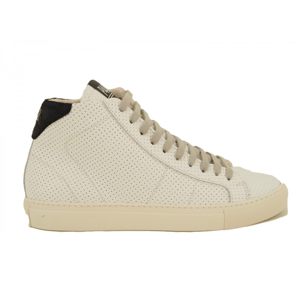 the best attitude 67de3 e5d0c P448 Scarpe Sneaker Uomo Basse - Pelle Bianca COJOHNWhiLcm