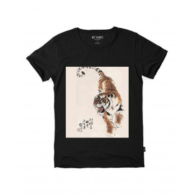 T-SHIRT DA DONNA RICE PAPER TV | NERO | C610_RURAL_TIGER_TB | KO SAMUI