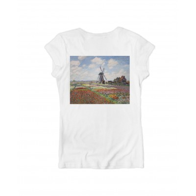 T-SHIRT DA DONNA ART TV | BIANCO | C628_TULIPS_TB | KO SAMUI