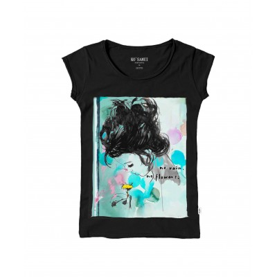 T-SHIRT DSA DONNA TV COTTON INSERET | NERO | C631_NO_RAINS_TBC | KO SAMUI