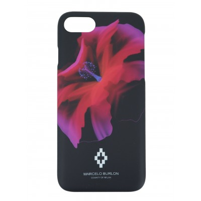 COVER PER IPHONE 8 7 6 6S | NERO ROSSO | MARCELO BURLON | M8-REDFLOWER