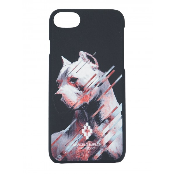 COVER PER IPHONE 8 7 6 6S | NERO BIANCO | MARCELO BURLON | M8-DOG