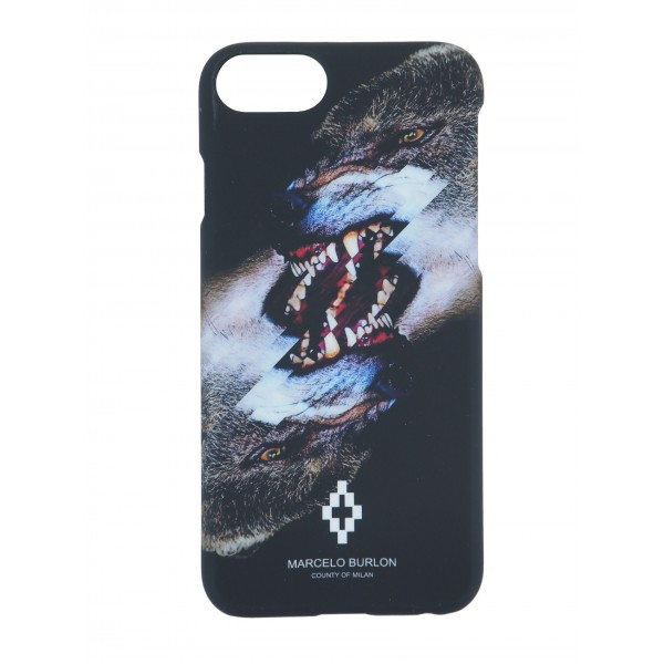 COVER PER IPHONE 7 | NERO GRIGIO | MARCELO BURLON | M7-TOBIAS