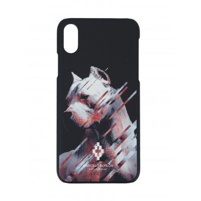Marcelo Burlon | Dog Cover iPhone X Black | MBU_MX-DOG_WH