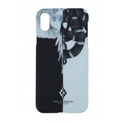 Marcelo Burlon | Snake Wing Cover iPhone X Nero | MBU_MX-SNAKEWING_WH
