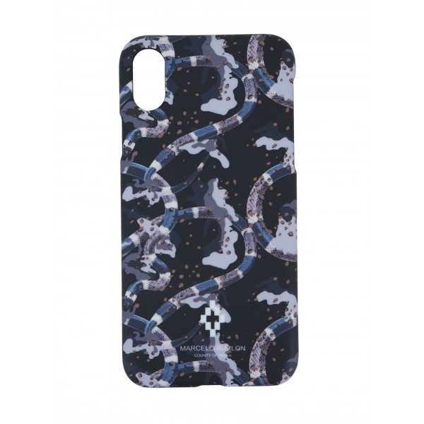 COVER PER IPHONE X  | NERO CAMOUFLAGE | MARCELO BURLON | MX-CAMOU