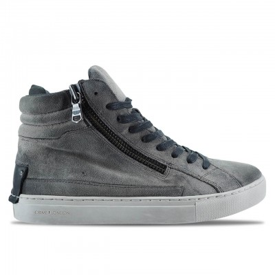 CRIME LONDON | SNEAKER ALTE IN PELLE SCAMOSCATA GRIGIO | 11323AA1