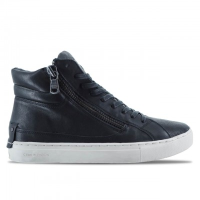CRIME LONDON | SNEAKER ALTE DA UOMO IN PELLE NERO | 11327AA1