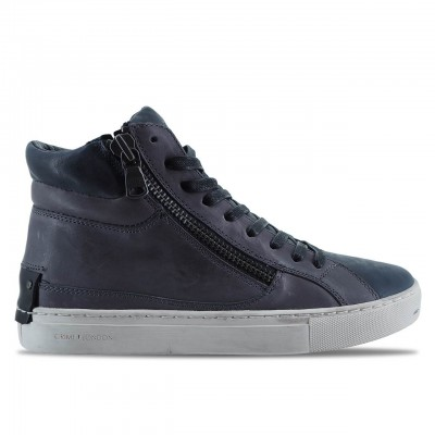 CRIME LONDON | SNEAKER ALTE DA UOMO JASON IN PELLE GRIGIO | 11329AA1