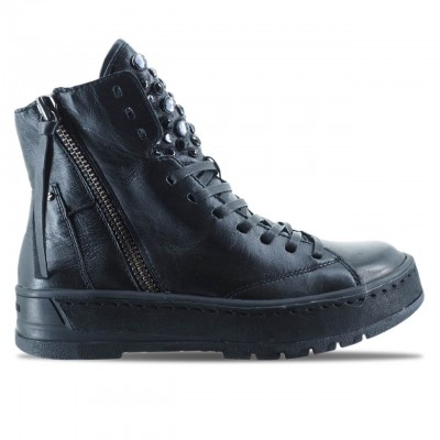 CRIME LONDON | STIVALETTO DA DONNA HACKNEY IN PELLE NERO | 25401AA1