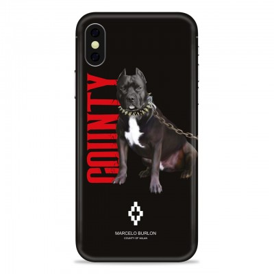 MARCELO BURLON | COVER PER IPHONE X NERO | MBU_MX-DOGO