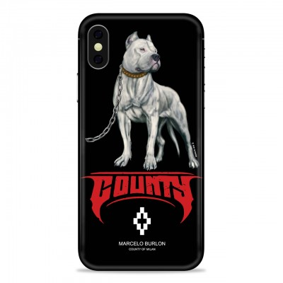 MARCELO BURLON | COVER PER IPHONE X NERO | MBU_MX-DOGOFW118PM