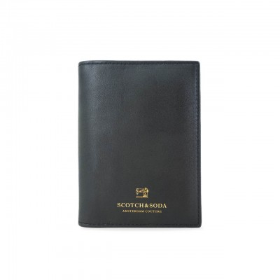 SCOTCH & SODA | PORTA PASSAPORTO IN PELLE E NYLON COLORE NERO | 145746