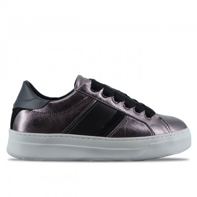 CRIME LONDON | SCARPE SNEAKER DA DONNA SONIK IN PELLE MARRONE | 25221AA1