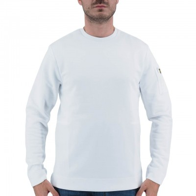 LYLE & SCOTT | WHITE MEN'S HOODED SWEATSHIRT | ML921V