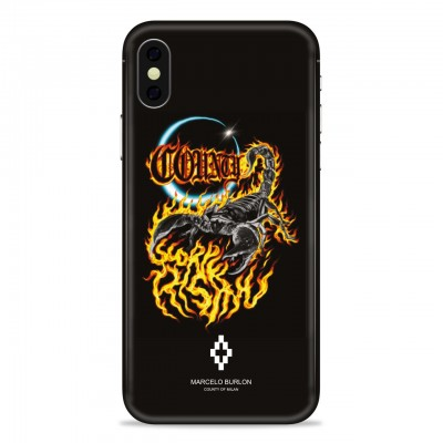 MARCELO BURLON | COVER PER IPHONE X NERO | MBU_MX-SCORPIO