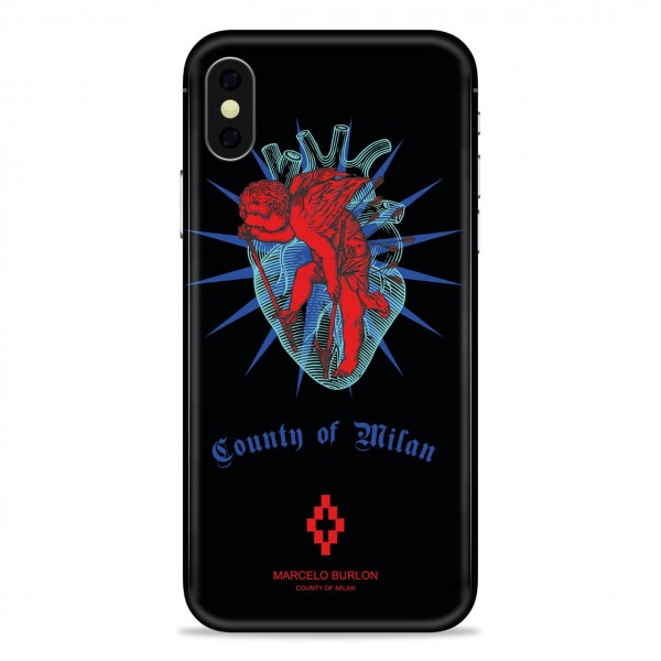 MARCELO BURLON | COVER PER IPHONE X NERO | MBU_MX-CUPIDO