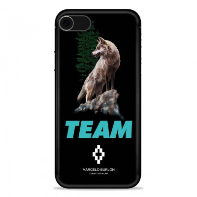 MARCELO BURLON | COVER PER IPHONE 8 7 6 6S NERO | MBU_M8-TEAMWOLFFW18PM