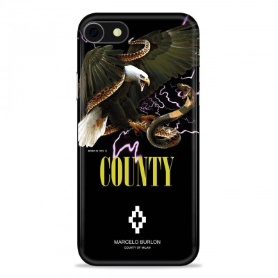 MARCELO BURLON | COVER PER IPHONE 8 7 6 6S NERO | MBU_M8-EAGLEFW18PM