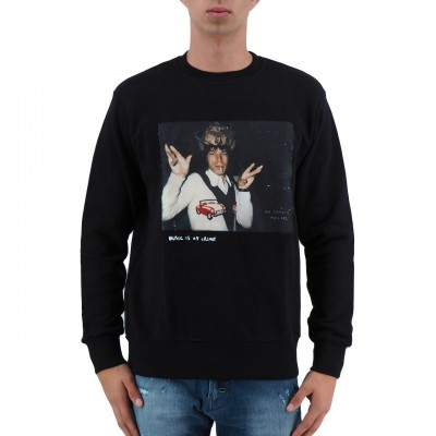 KO SAMUI | MICK JAGGER MEN'S SWEATSHIRT BLACK | KSU_JM402CROWNED_BLK
