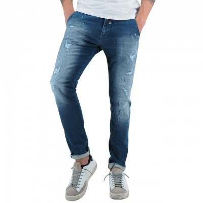 DIRTY PAINT | JEANS DA UOMO ROLLING COLORE BLU | ROLLING_WF04