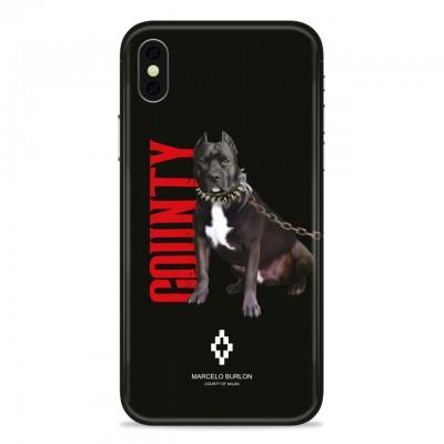 MARCELO BURLON | COVER PER IPHONE XS MAX NERO | MBU_MXSM-DOGO
