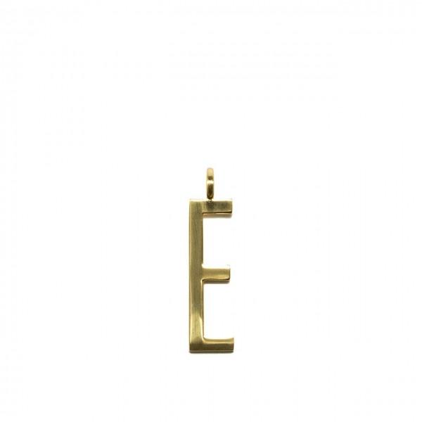 GUM GIANNI CHIARINI | CHARM GOLD LETTER | CHARM GOLD LETTER/18PE_LETTER E