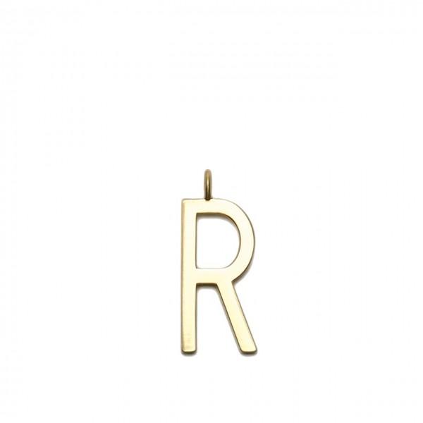 GUM GIANNI CHIARINI   CHARM GOLD LETTER   CHARM GOLD LETTER/18PE_LETTER R