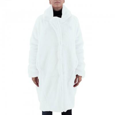 Amami | Pelliccia Cappotto Oversize Bianco | PEL2412DBC