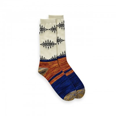 Scotch & Soda | Blauw premium cotton melange socks Beige | S&S_147910_17