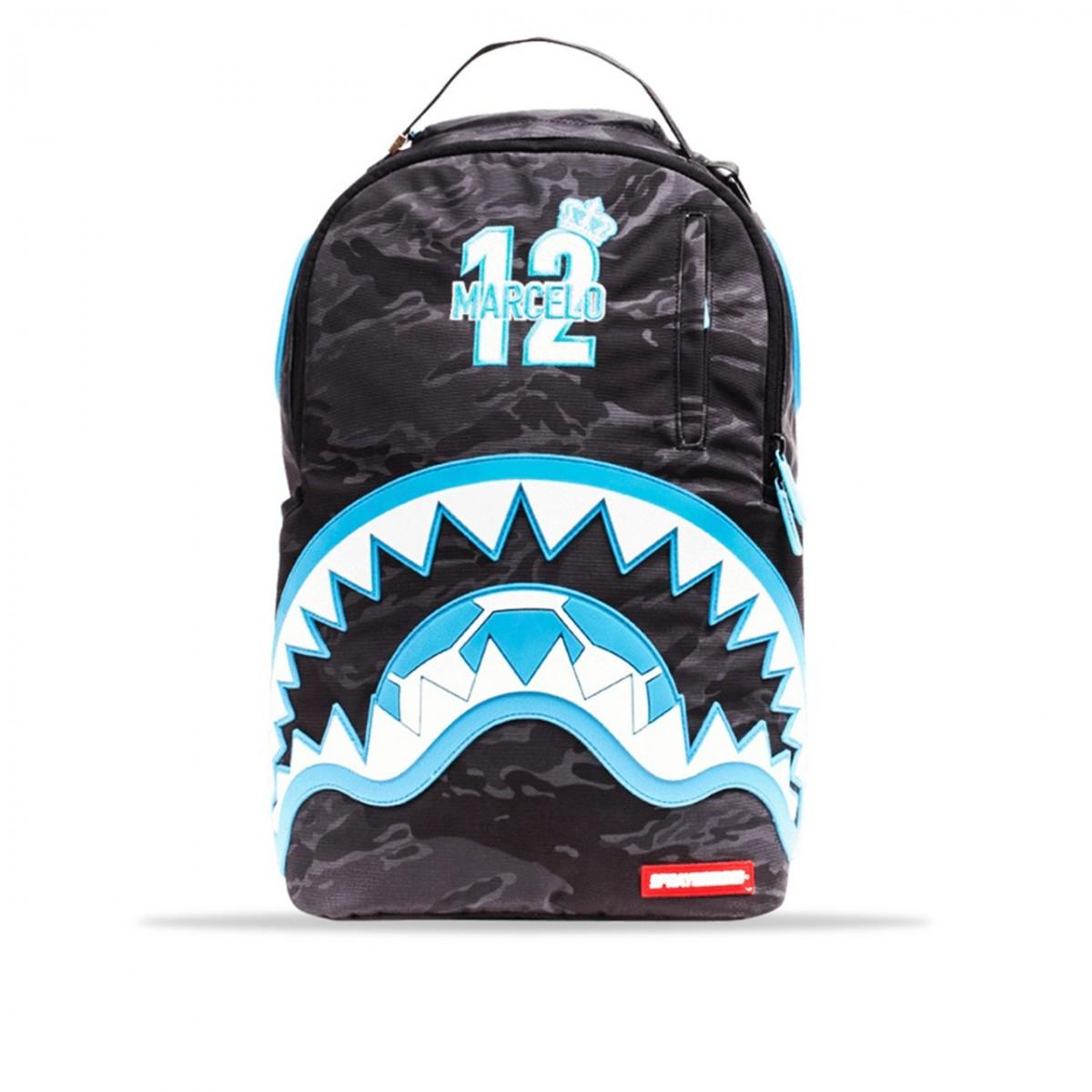 Shark Marcelo Sprayground 910b1871nsz Rubber Blue Backpack Grey dtqBSq8n