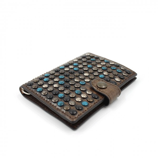 Kjore Project | Limited Studs iClutch + Coins MARRONE | KPJ_ICLUTCHSTUDSCOINS_MARRONEBLU