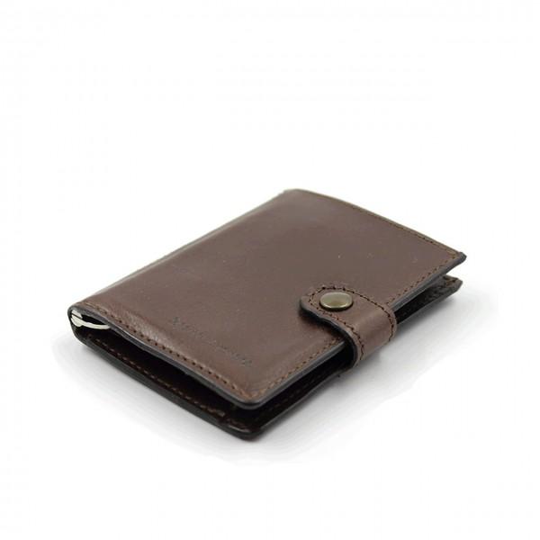 Kjore Project | Calf Leather iClutch + Coins MARRONE | KPJ_ICLUTCHCALFCOINS_MARRONE