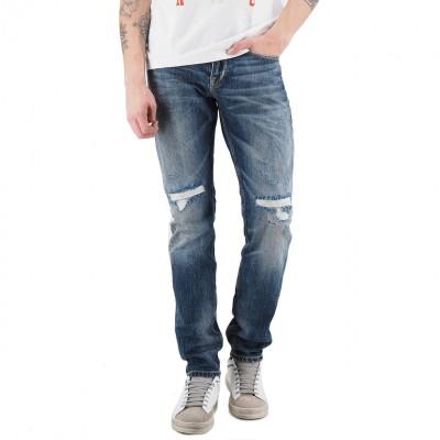 Scotch & Soda | Ralston Bison Blauw Repair Jeans Blu | S&SL_148329_2809