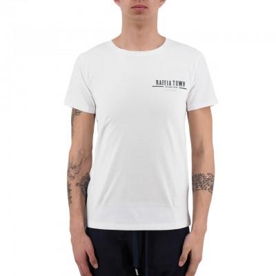 Scotch & Soda | The Raffia Town T-Shirt BIANCO | S&S_149062_0006