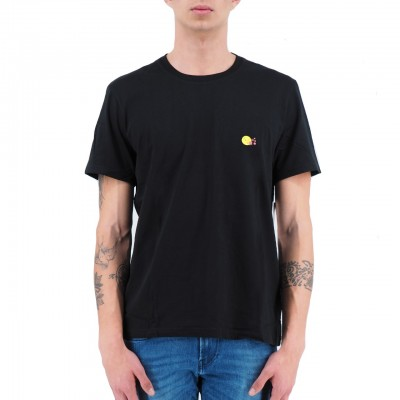 Daniele Alessandrini   T-Shirt Il Cuore E La Bocca Nero   DAL_M6935E6433902_1