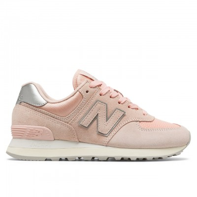 New Balance | 574 Oyster Pink Suede Mesh Rosa | NBWL574OPS