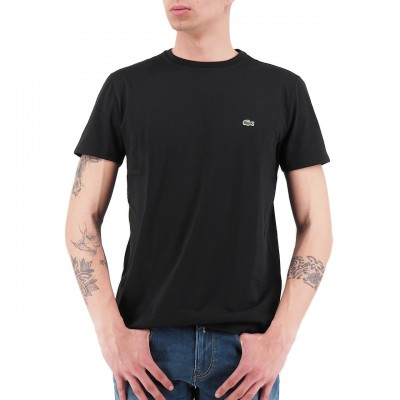 Lacoste | T-Shirt Girocollo In Jersey Nero | LAC_TH6709 00_031