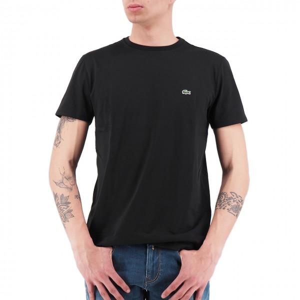 Lacoste | T-Shirt Girocollo In Jersey Nero | LAC_TH6709 00_031