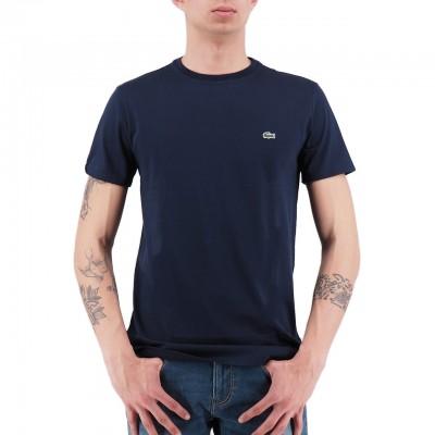 Lacoste | T-Shirt Girocollo In Jersey Blu | LAC_TH6709 00_166