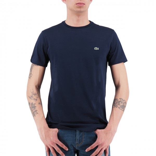 Lacoste | T-Shirt Girocollo In Jersey Blu | LAC_TH6709 00_166