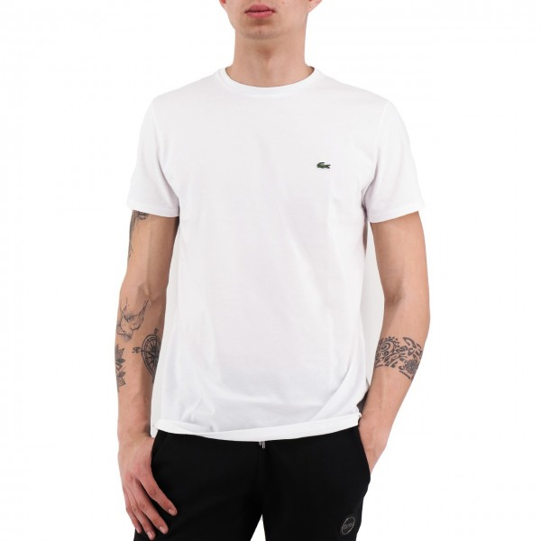 Lacoste | T-Shirt Girocollo In Jersey Bianco | LAC_TH6709 00_001