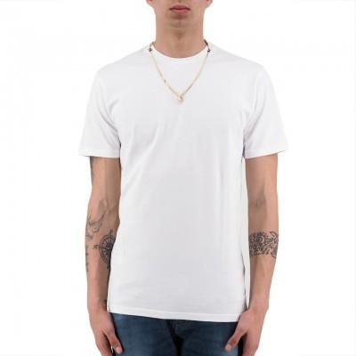 Daniele Alessandrini   T-Shirt Girocollo E Collana Bianco   DAL_E6433902_2