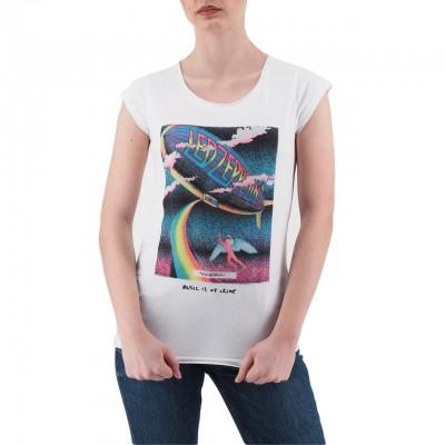 Ko Samui | Psychedelic Led Zeppelin Music T-Shirt Bianco | KSU_TB 810 PSYCADELIC_WHT
