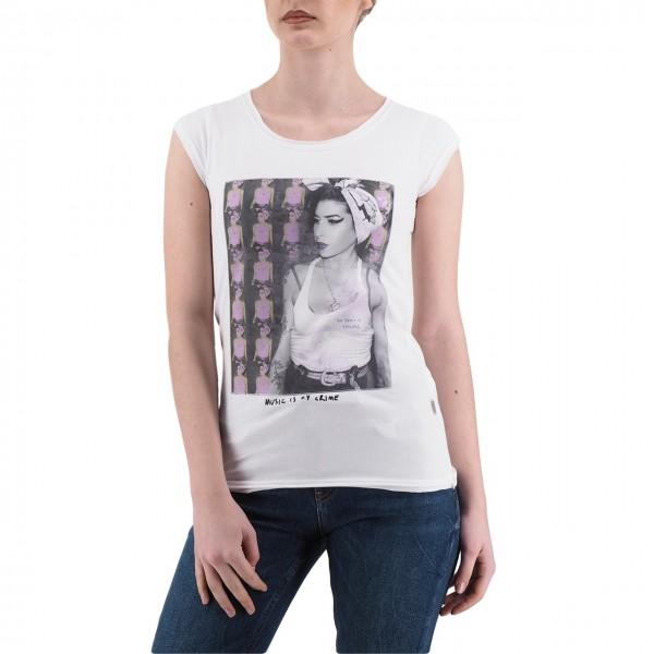 Ko Samui | Amy Winehouse Bandana Music T-Shirt White | KSU_TB 808 BANDANA_WHT
