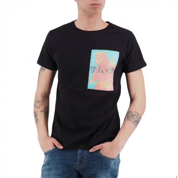Ko Samui | Rice Paper T-Shirt Nero | KSU_TTP 835 GOZZY_BLK