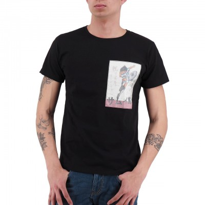 Ko Samui   Rice Paper T-Shirt Nero   KSU_TTP 833 FOOTBALLER_BLK
