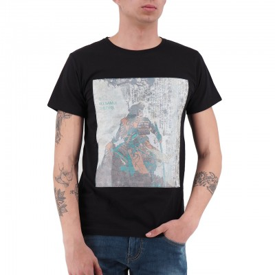 Ko Samui | Fighter Rice Paper T-Shirt Nero | KSU_TTP 828 FIGHTER_BLK