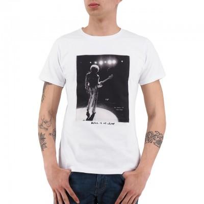 Ko Samui   Music T-Shirt Bianco   KSU_TT 802 STAGE_WHT