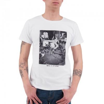 Ko Samui   Music T-Shirt Bianco   KSU_TT 805 DRUNK_WHT